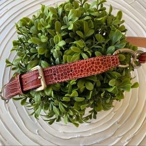 Maroon animal print leather belt, made in Italy
